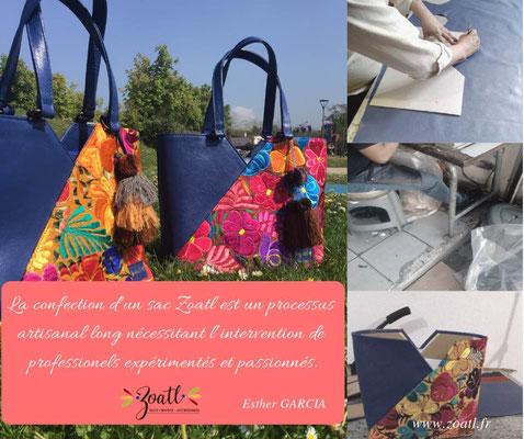 Le processus artisanal d'un sac à main