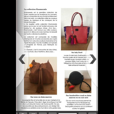 La collection de sacs à main Enamorado dans le magazine Black Beautés Magazine