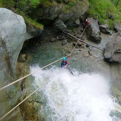 canyoning dans les hautes alpes, canyon de l'eychauda à pelvoux