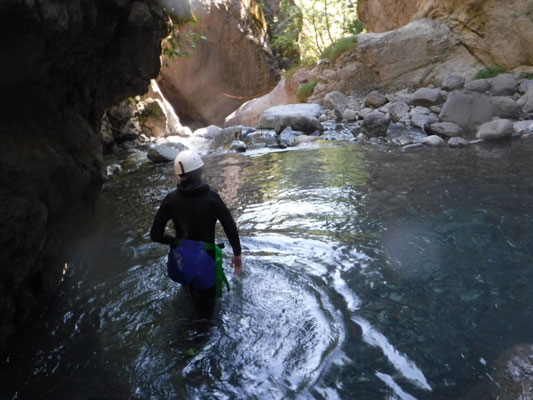 canyoning au fournel, à briancon, hautes alpes