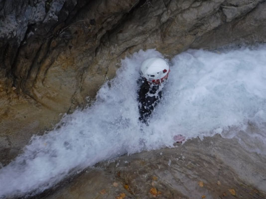 glissade au canyon de la blache