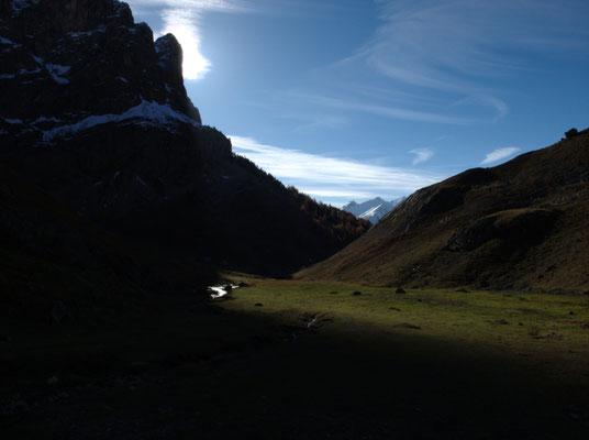 Le soleil se lève sur la vallée de Serre Chevalier