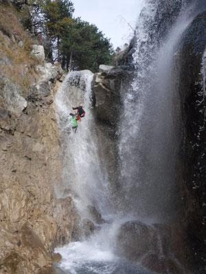 cascades costeplane canyon de la Blache