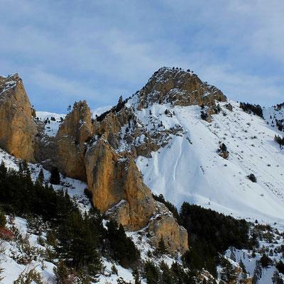 randonnée en raquettes autour de Briançon, Serre Chevalier ( Cervières)