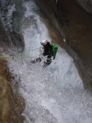 descente du canyon à la blache