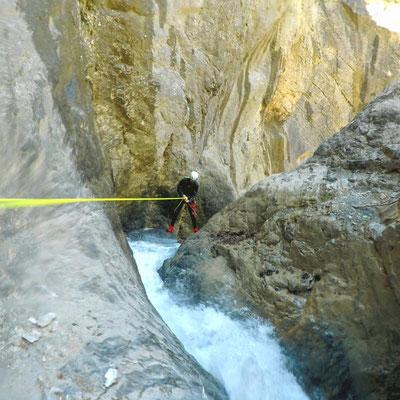 Un bon débit d'eau pour ce canyon