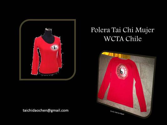 Polera Mujer Manga Larga para práctica de TaiChi en WCTA Chile (ex CXWTA Chile)