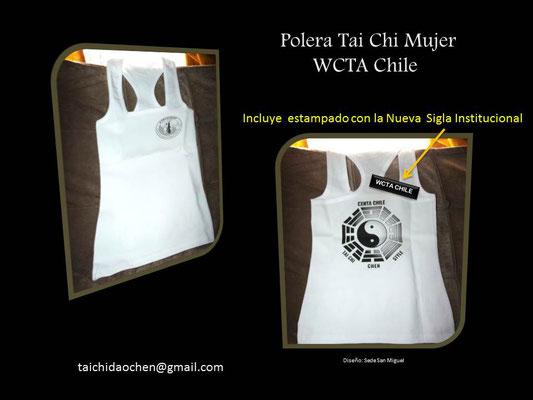 Polera Deportiva Mujer para práctica de TaiChi en WCTA Chile