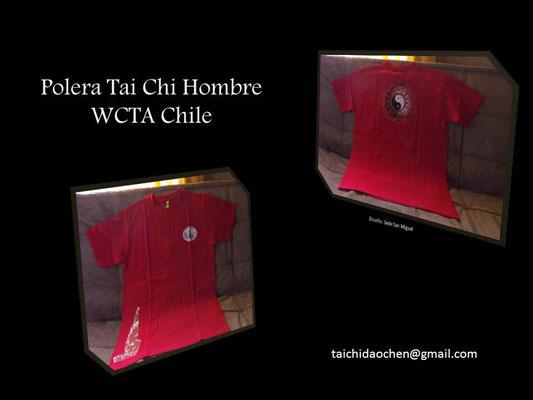 Polera Hombre cuello polo para práctica de Tai Chi en WCTA Chile (ex CXWTA Chile)