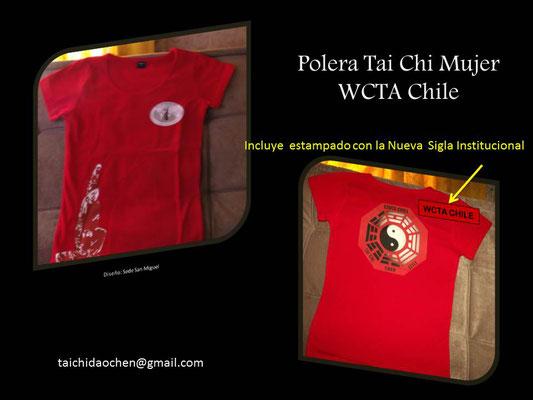 Polera Mujer en algodón elásticado para práctica de TaiChi en WCTA Chile (ex CXWTA Chile)