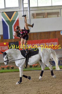 Stefanie Hägele/Kim Stahl (GER); Pferd: Cannavaro; Longe: Melanie Nagel