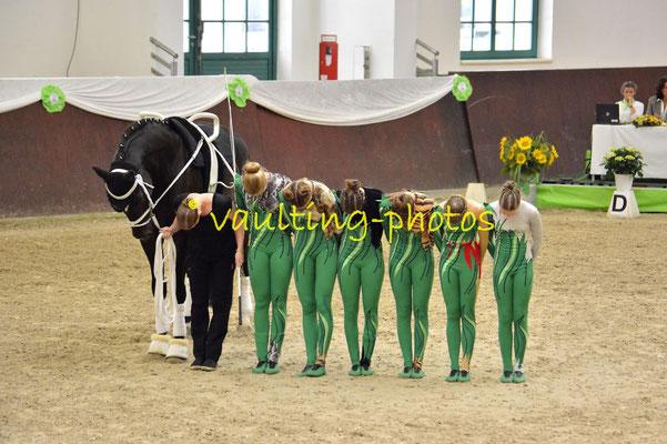 Juniorteam Brakel I; LV: Westfalen; Pferd: Dorian Gray SN; Longe: Anna Brinkmann