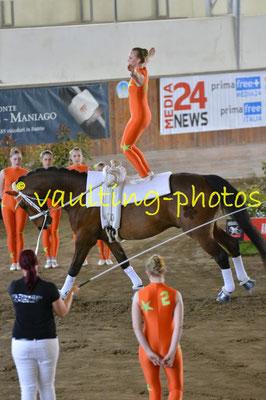 Voltigierteam Klagenfurt (AUT); Pferd: Le Garcon du Coer; Longe: Viktoria Mandl
