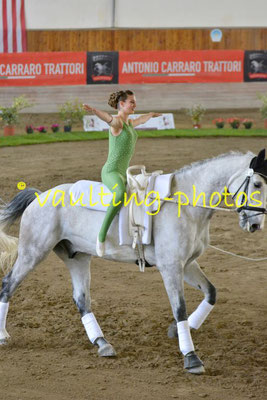 Gut Waffenschmiede (GER); Pferd: Diablo; Longe: Sabine Steger