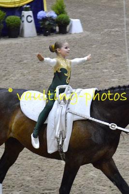 Caprifolens Juniorlag (SWE); Pferd: Wellington; Longe: Kim Pramgard