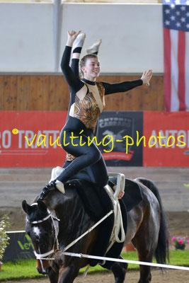 Michele Signer/Danae Signer (SUI); Pferd: Samurai von Eigen; Longe: Jasmine Grossglauser