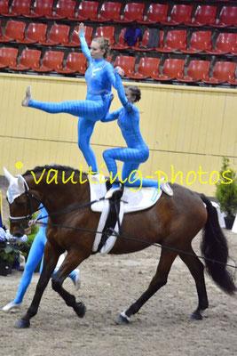 Voltigeklubben Thommysminde I (DEN); Pferd:Goerklintgaards Donau; Longe: Betine Gaardsman Nielsen