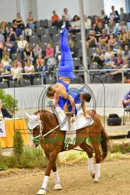 Malte Möller/Annika Espenschied; LV: Hamburg; Pferd: Behrendts Bonito; Longe: Sabrina Feldhusen