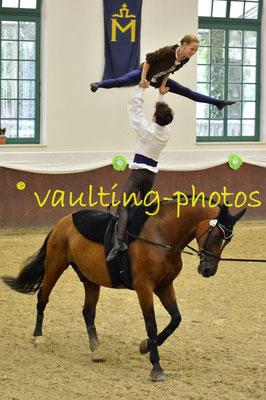 Emma Hoffmann/Pascal Kersten; LV: Baden Württemberg; Longe: Simone Weinberger; Pferd: Rasquino