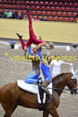 Team Cassiopeia (SWE);Pferd: Cato af Norremosegard; Longe: Marie-Louise Westerlund