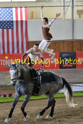 Asarja Hunn/Severine Neumeister (SUI); Pferd: Dresdn; Longe: Corinne Bosshard