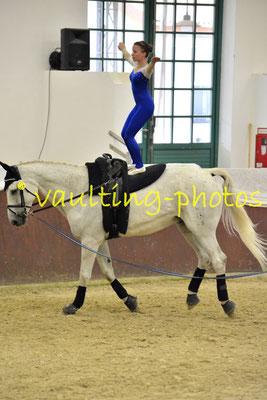 Juniorteam Rostock; LV: Mecklenburg-Vorpommern; Pferd: Kleiner Onkel; Longe: Katja Banzet
