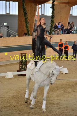 Gut Waffenschmiede (GER); Pferd: Aido; Longe: Sabine Steger
