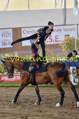Flora Melina Weiss/Nina Wellisch (AUT); Pferd: Boccaccio D; Longe: Stefanie Kowald