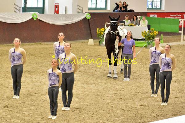 VV Ingelsberg Junior II; LV: Bayern; Pferd: Rajan 11; Longe: Annkathrin Solf