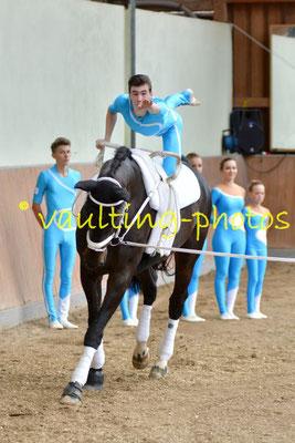 Neuss-Grimlinghausen V; LV: Rheinland; Pferd: Romanow; Longe: Miriam Quodt