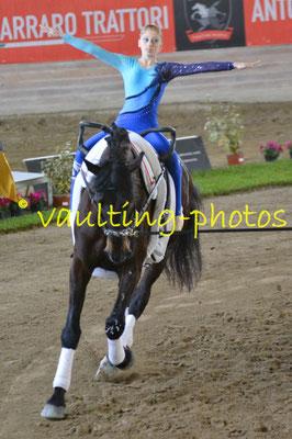 Team ICARO BLU (ITA); Pferd: Quarzo del Belagaio; Longe: Giulia Bardelli