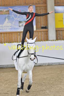 Waltersleben II; Pferd: Lenzen; Longe: Christine Dünisch