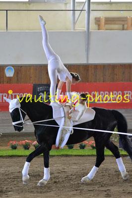 Katharina Furtner/Martina Vimpolsek (AUT); Pferd: Rainman 64; Longe: Christina Furtner