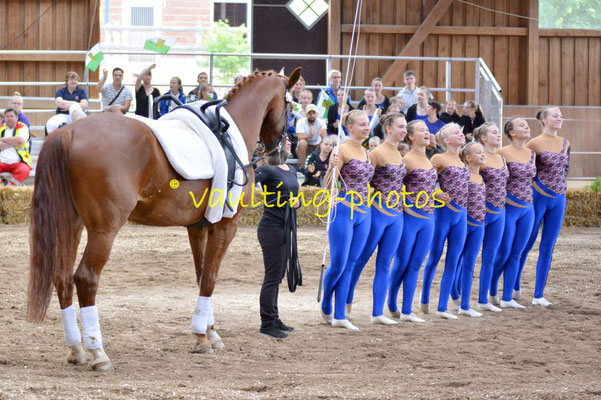 Leipzig-Knauthain II; LV: Sachsen; Pferd: Don Alfredo; Longe: Anna Wiesner