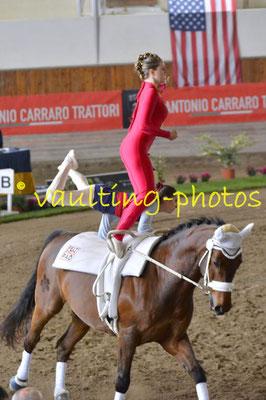 Tabea Tatschl/Anna Lena Makoru (AUT); Pferd: Le Garcon du Coer; Longe: Viktoria Mandl