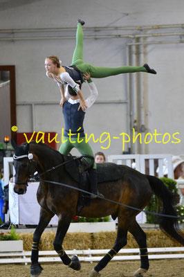 Emma Hoffmann/Pascal Kersten; LV: Baden-Württemberg; Pferd: Lombay; Longe: Melanie Nagel