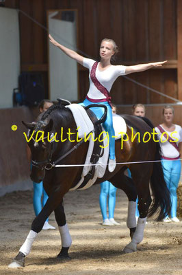 TSG Schönberg I; LV: Mecklenburg-Vorpommern; Pferd: Contaro; Longe: Ulrike Groth