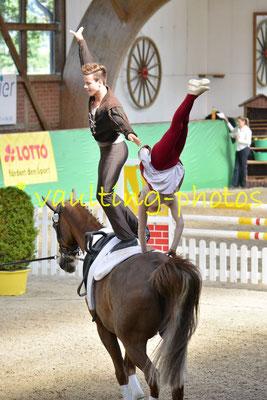 Timo Gerdes/ Jolina Ossenberg-Engels (GER); Pferd: Dragoner; Longe: Nina Vorberg