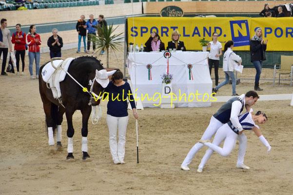 Theresa Thiel/Stefan Csand (AUT)l; Pferd: Crossino 2; Longe: Karin Böhmer