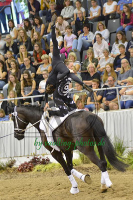 Sophie Wegener/Adele Schröder; LV: Westfalen; Pferd: Rocco Nobile; Longe: Pia Freier