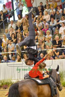 Timo Gerdes/Jolina Ossenberg-Engels; LV: Westfalen; Pferd: Caram OE; Longe: Claudia Döller-Ossenberg-Engels