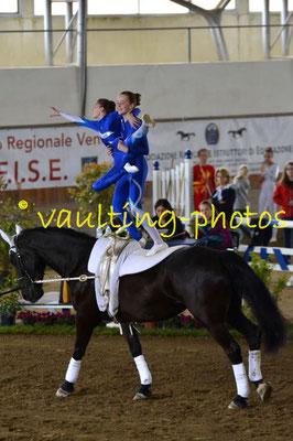 Anja Schneider/Louisa Ryf (SUI); Pferd: Castle Master Lady; Longe: Trudi Kauer