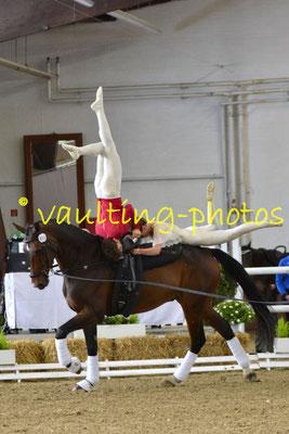 Julian Kögl/Ronja Kähler; LV: Berlin-Brandenburg; Pferd: Daytona; Longe: Lars Hansen