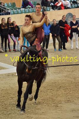 Ruth Konrader/Elisabeth Kuss (AUT); Pferd: Chapot CE; Longe: Stefanie Nussmüller