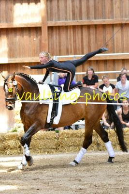 Timmel I; LV: Weser-Ems; Pferd:El Maron; Longe: Heike Janssen