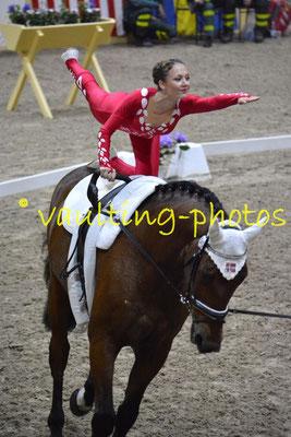 Voltigeklubben Thommysminde I (DEN); Pferd: Goerklintgaards Donau; Longe: Betine Gaardsman Nielsen