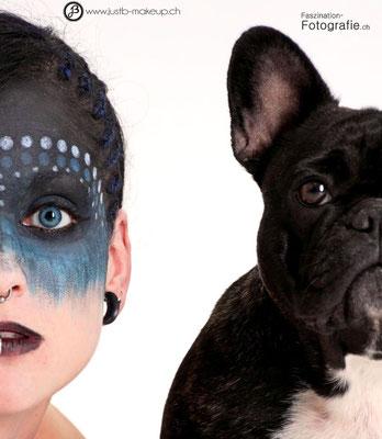 Model: Milena und Bumblebee / Fotograf: Faszination Fotografie / Makeup: JustB Makeup by Ute Burkhardt