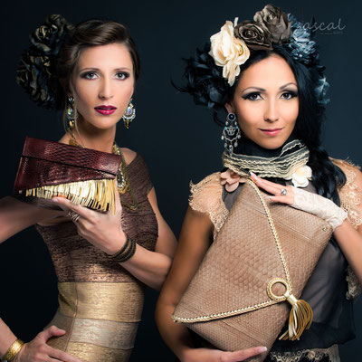 Model: Sona & Monica / Foto: 4pascal.com / Accesoirs: OS-HH / Hair&MuA: JustB Makeup by Ute Burkhardt