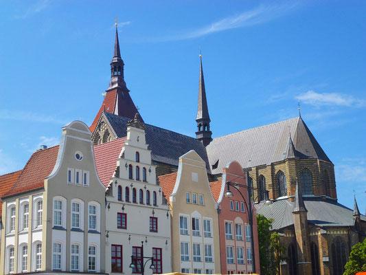 Rostock - New Market with St. Mary's Church