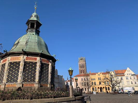 Wismar - Market Square and Water Art